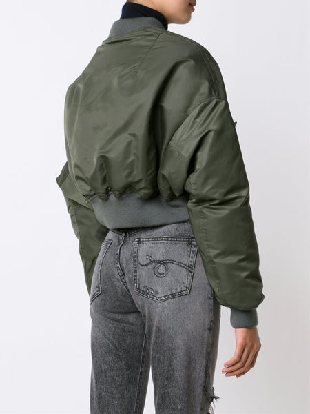 Cropped Bomber Jacket | R13W2407-004