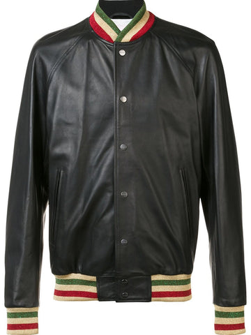 Leather Coaches Jacket | PMEA004-F1601-2055