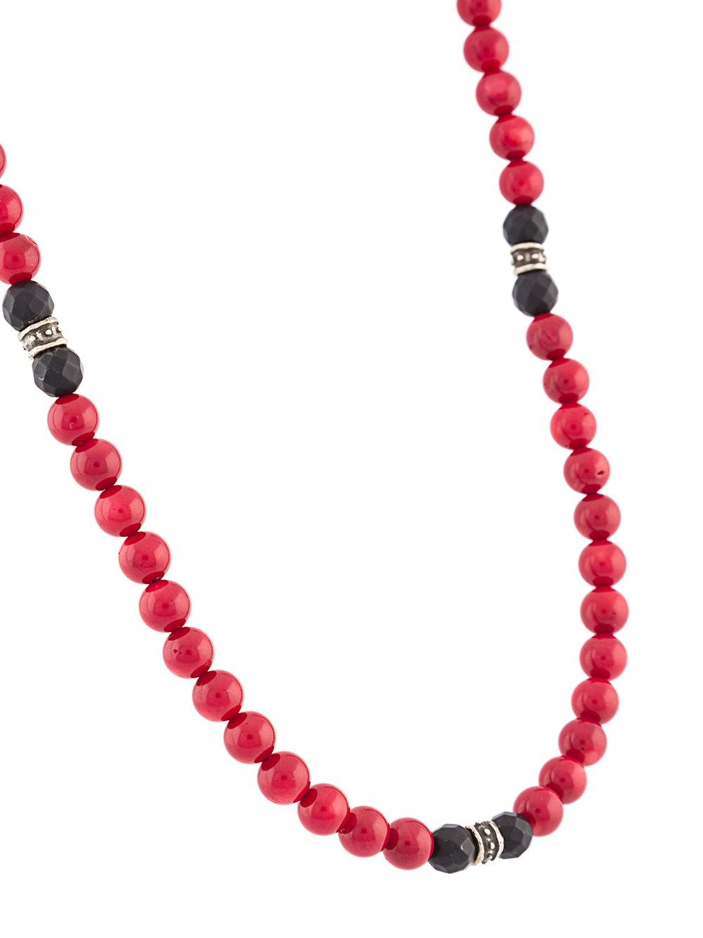Beaded Red Coral Necklace | N-479-5