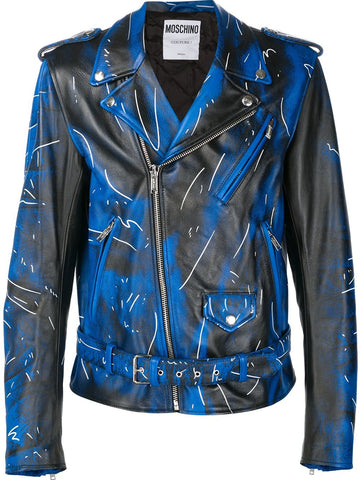 Abstract Motorcycle Jacket | A-3704-5270