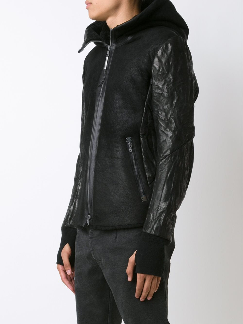 Down FIlled Lambskin Jacket | CLANDESTIN-BRRR