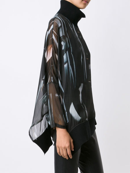 Graphic Silk Top | 1602-1830-101-099