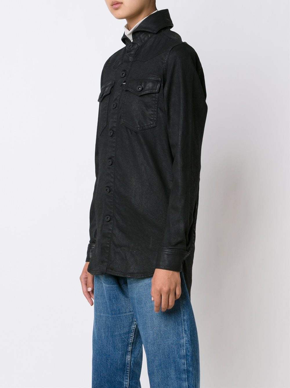 Waxed Denim Shirt | OWGA006F16150080