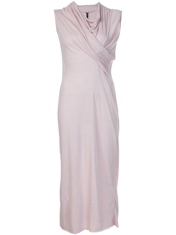 Sleeveless Draped Dress | LI16F1512-R