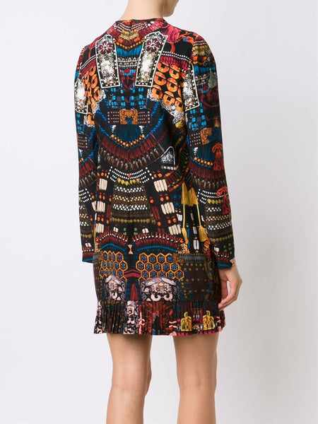 Graphic Silk Dress | S73CU0179-S47270
