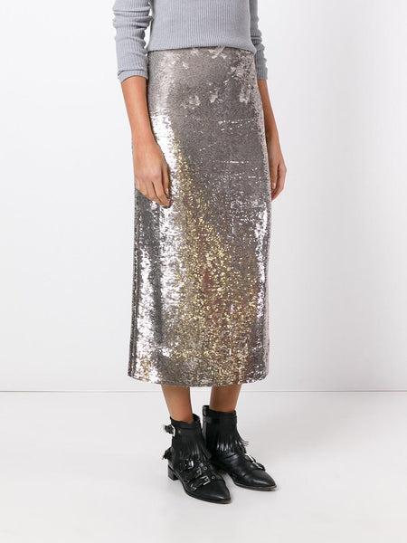 Sequined Skirt | 16WWM31 BUMP