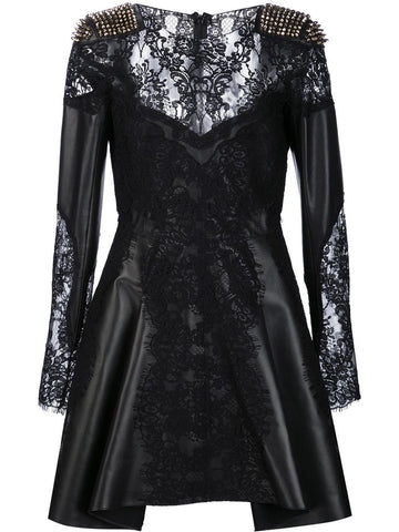 Lambskin & Lace Dress | CW440302