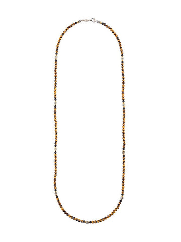Beaded Tiger Eye Necklace | N-1331-479-11-SS/TIGER EYE