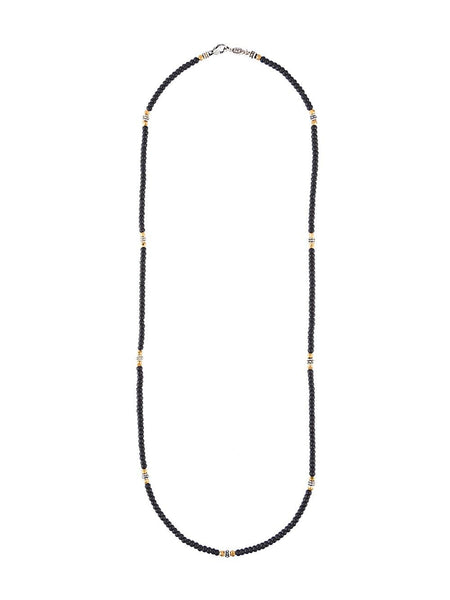 Beaded Agate Necklace | N-1327-11-SS-AG GOLDEN