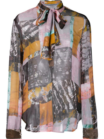 Abstract Silk Shirt | Y66-6472P