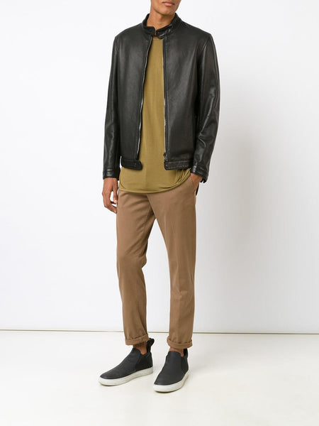 Leather Racer Jacket | 3185-U ASY