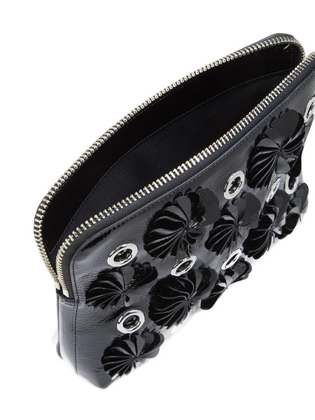 Embellished Leather Clutch | AH16-B179FNK BLACK