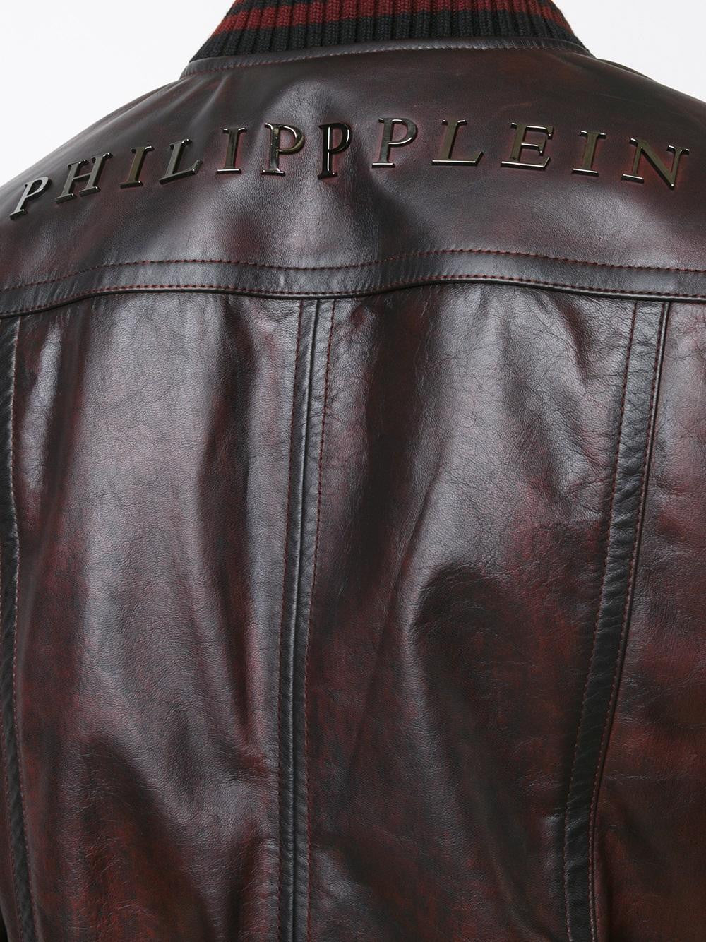 Studded Leather Bomber | HM220417