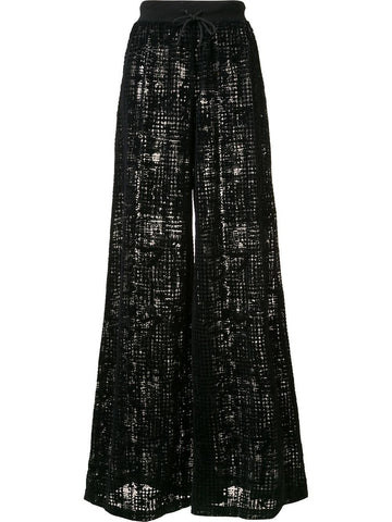 Sheer Flared Pant | 57325201 SHEER GR WIDELEG PANT