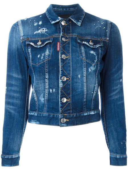 Distressed Denim Jacket | S75AM0489 S30342