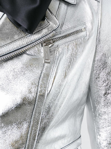 Metallic Leather Jacket | S75BN0503 SY0227