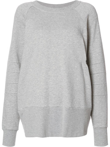 Paneled French Terry Pullover | M560HGYF HTHR GREY HENRY
