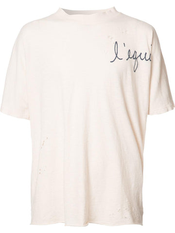 Distressed Guadeloupe Tee | M650-MM3 JERSEY LINEN RYAN