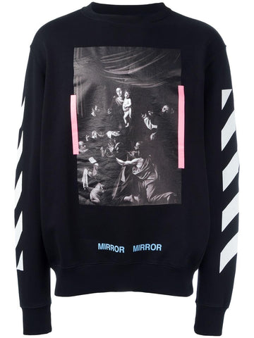 Caravaggio French Terry Crewneck | OMBA003S17192090 DIAGCARAVAG