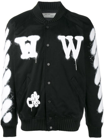 Varsity Spray Jacket | OMEA057S17272023 DIAGVARSITY