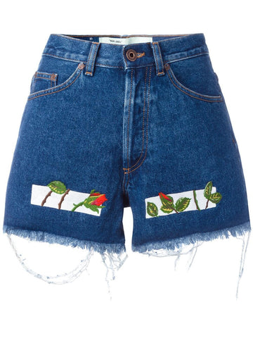 Embroidered Denim Shorts | OWCB004S17386057 ROSES