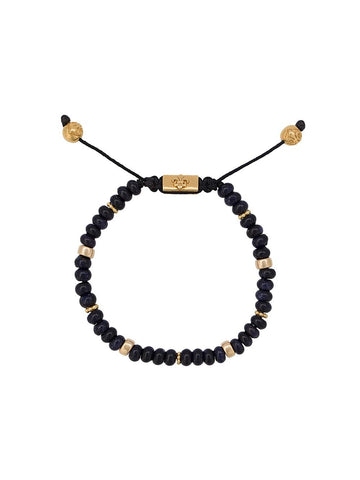Glass & Gold Bead Bracelet | BLUE GLASS BEAD/GOLD