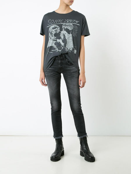 Cotton-Cashmere Goo Tee | R13W3255-01 SONIC YOUTH BOYT