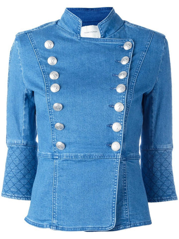 Double-Breasted Denim Jacket | FP76201J 36268