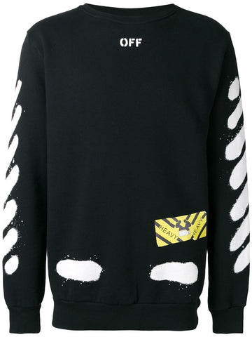 Diagonal Spray Sweatshirt | OMBA003S17192023 DIAGSPRAY