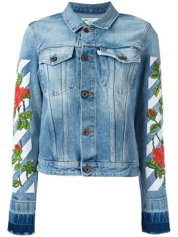 Rose Embroidered Jacket | OWEA063S17386058 ROSES SLIM DN