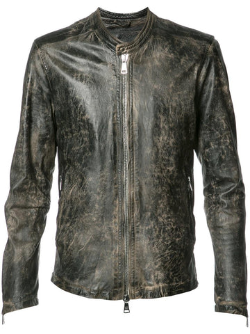 Distressed Leather Jacket | GU17S8208VPTVTG