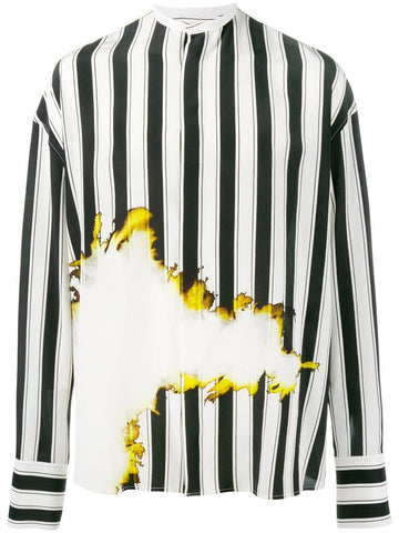 Striped Silk Shirt | 173-3606-102