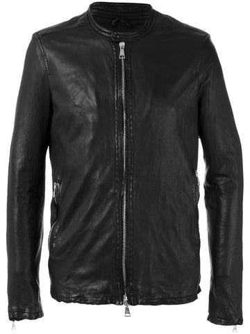 Leather Racer Jacket | GU17S8208V
