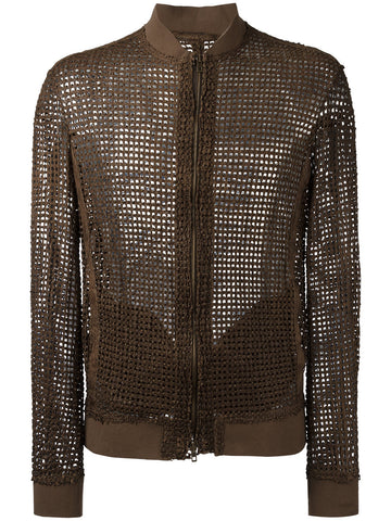 Perforated Leather Jacket | 32507-U