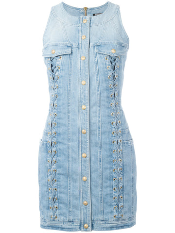 Laced Denim Dress | 3321 348N