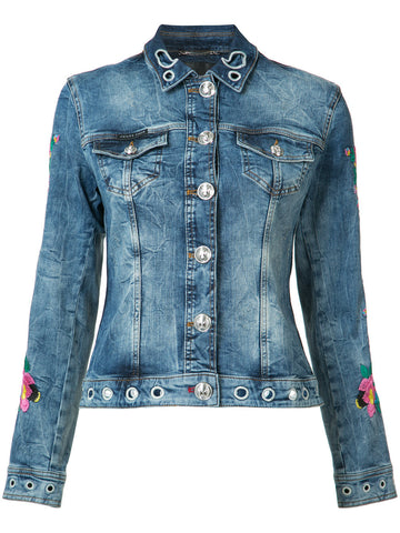 Embroidered Denim Jacket | WDB0032_PDE029N DNM JCKT CALLA