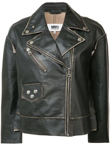 Leather Motorcycle Jacket | S32AM0252-SY0261