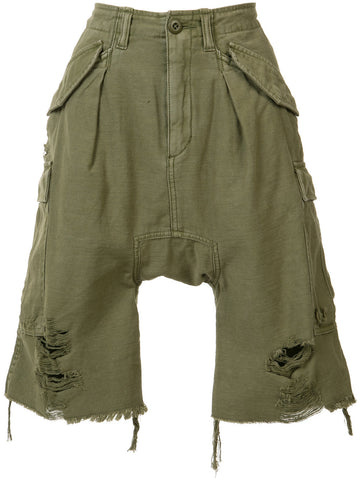 Distressed Cotton Shorts | R13W0301-03