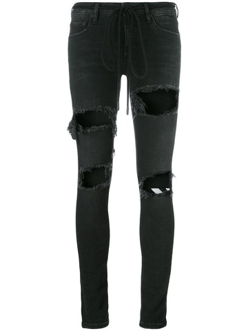 Ripped Skinny Jeans | OWCE033S17150049RPPD SKNY 5PTK
