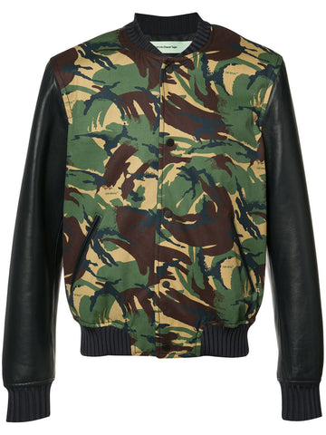 Camo Varsity Jacket | OMEA052S17364017 LEATHER