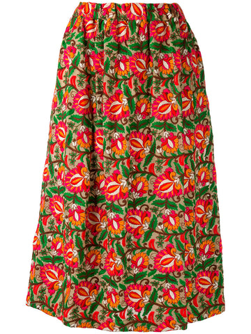 Embroidered Floral Skirt | RS-S003-051