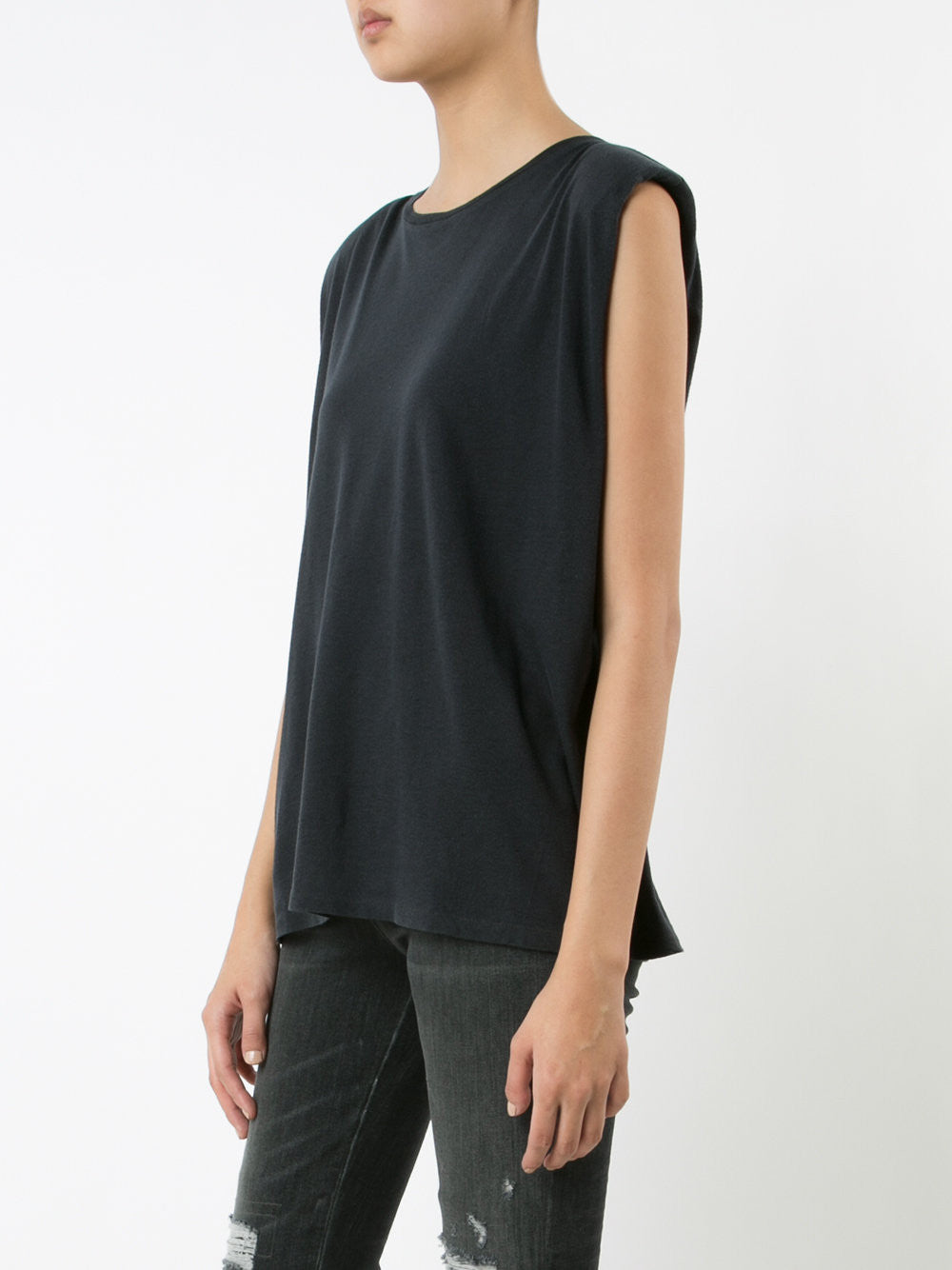 Sleeveless Cotton-Cashmere Tee | R13W7007-01