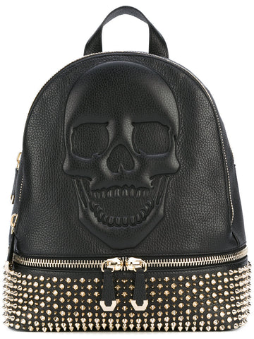 Studded Skull Backpack | WBA0134 PLE006N BACKPACK PINK