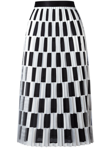 Pleated Checkered Skirt | OWCC024S17504015 CHECK PLISSE