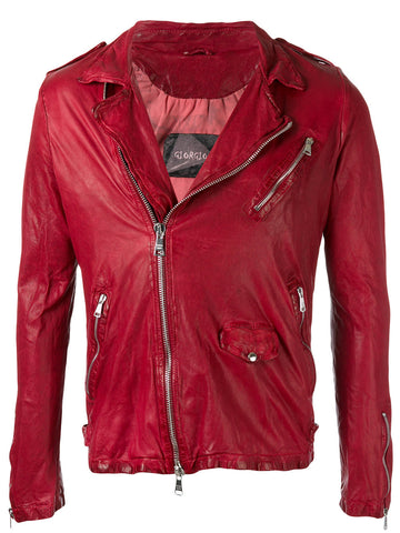 Leather Motorcycle Jacket | GU17S7242V