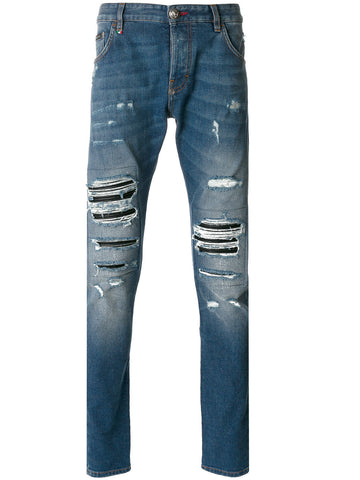 Distressed Skinny Jeans | MDT0073-PDE012NSMOKING