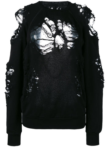 Distressed Sweatshirt | UWBA002S17003020 KK D TRY RLGN