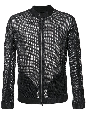 Perforated Leather Jacket | 32508-U