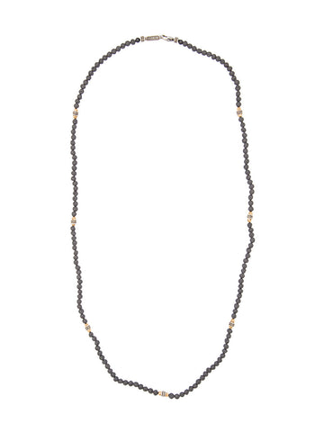 Lava Stone Necklace | N-N-1115-1327-9-SS/LV