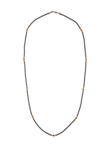 Beaded Hematite Necklace | N-1334-1327-11-SS/R HEM